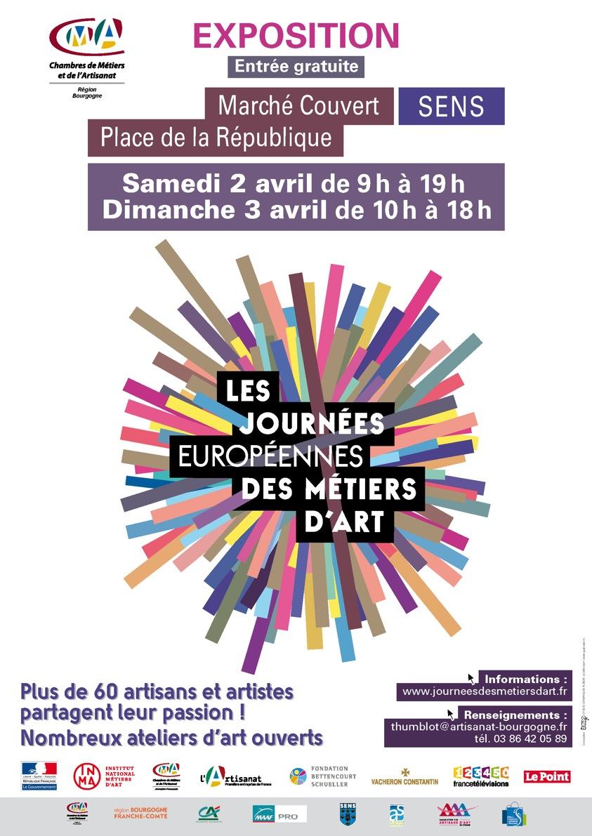 Journ es europ ennes des m tiers d 39 art march couvert sens - Chambre des metiers sens ...
