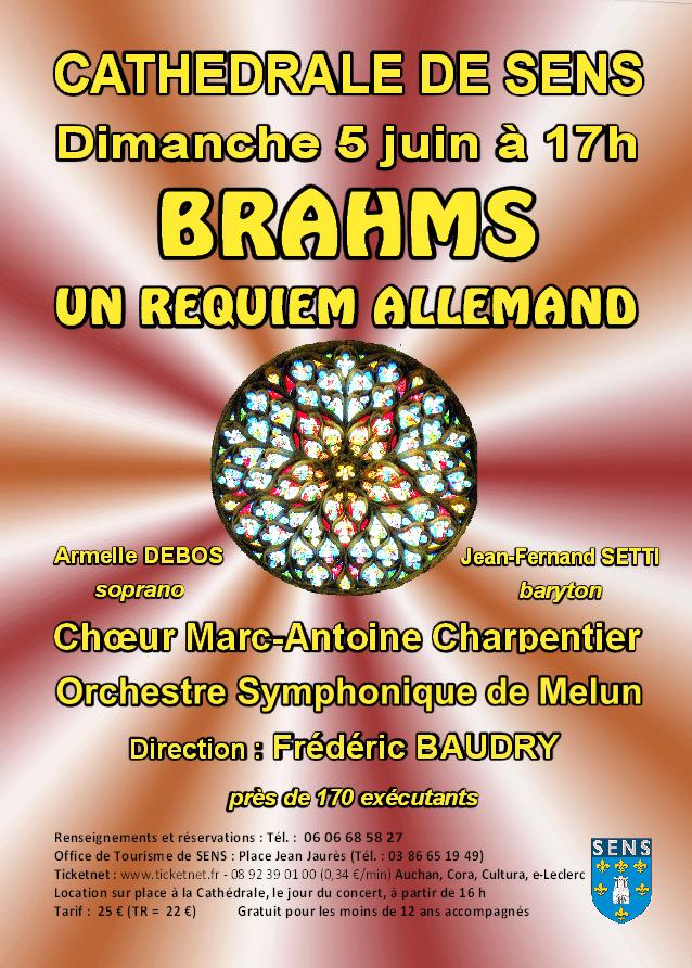 Concert brahms requiem allemand cath drale saint etienne sens - Office du tourisme allemand ...