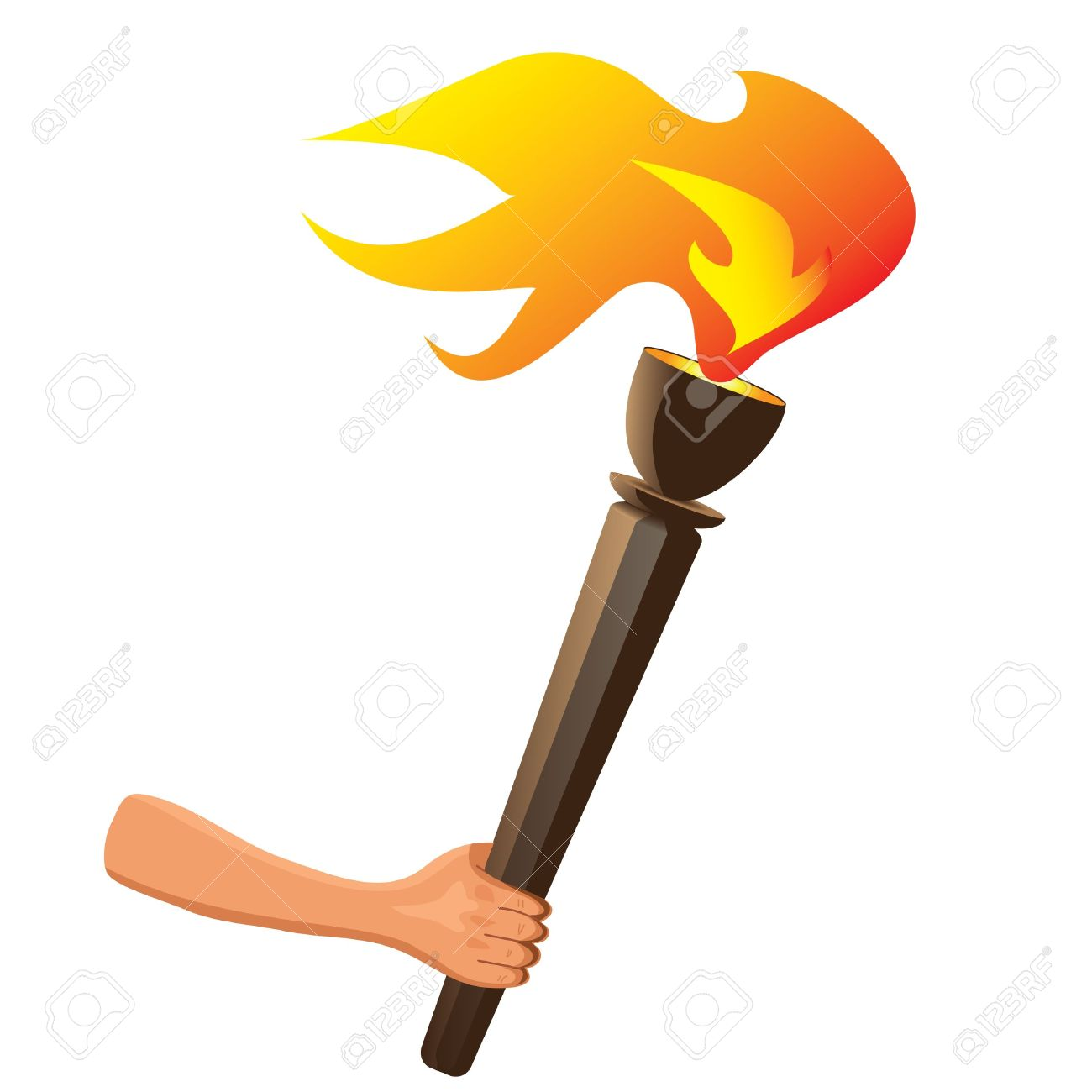 olympic torch with flame stock vector clipart apps