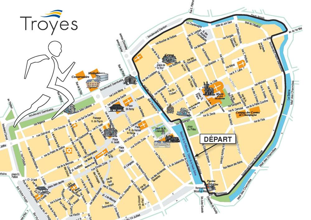 Le parcours de la t te du bouchon de champagne troyes aube champagne - Troyes office de tourisme ...